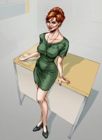 Joan from Mad Men by GhostYurei
