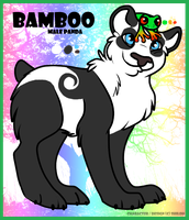 Panda character - BAMBOO for sale by GalaxyCrowButt