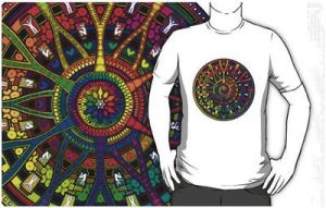 Rainbow Mandala 45 T-Shirt Now Ready by Mandala-Jim
