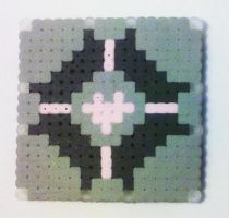 Companion Cube Coaster by i-am-a-decoy