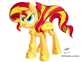 The New Royal Guard Sunsetshimmer by kyodashiro