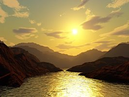 sunshine terragen by aperson4321