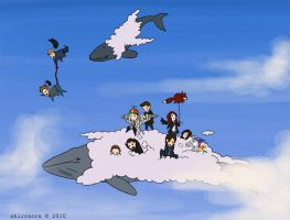 all aboard the cloud whale by Shirozora