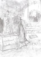.:the crow-pencil:. by raven-the-hedgehog