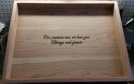 Baby Dragan's Memorial Box Lid - Inside View by TracyJDesigns
