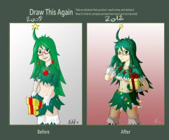 Draw this again: Christmas Tree-chan by AlSklad