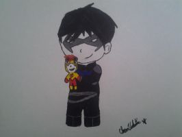 I always have you- Nightwing x Kid Flash by Sapphrix-XV