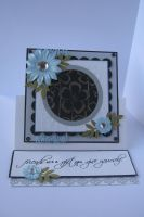 Embossed Easel Card by janinesmith54