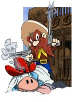 Yosemite Sam Showdown by Rhinozaurus
