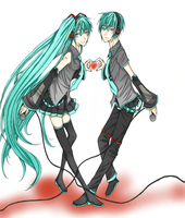Miku and Mikuo by AliceLovesYou