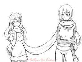 Lily and Sheri line art by Azeen