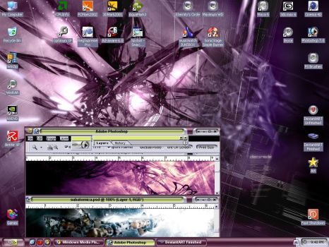 Desktop with Previews by Bloodbane