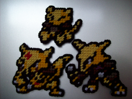 Abra Evolution Line by AprilMoonshine