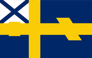 Flag of the Swedish-Russian Union by kyuzoaoi