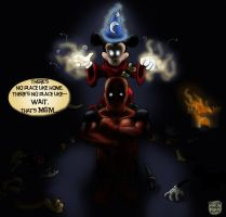 Deadpool in Disneyland by SilverDrgnbane