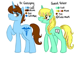 Dr Gallopey and Sweet Talker by ValkyrieSkies
