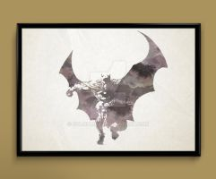 Batman watercolor print poster by ColourInk