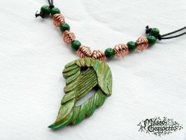 HARP LEAF PENDANT by MassoGeppetto