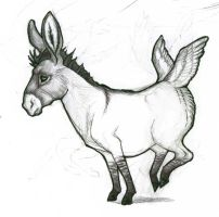 Beatrice the Flying Donkey by PippinIncarnate