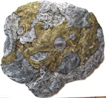 Dreamtime - Ceramic Discus 14A by ArtGenEeRing