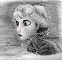 Elsa Drawing by awholeneworld