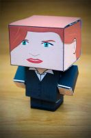 CubeCraft Agent Dana Scully by digital-uncool