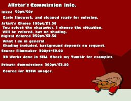 Commission Info (2017 Edition) by Allstarman