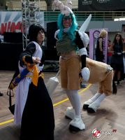 Soi Fon and Neliel by Angiepureheart