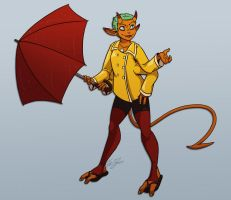 Demon in a Raincoat by In-Tays-Head