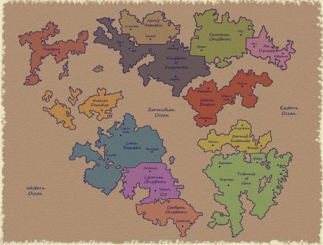 Pangaea's Split (With Country Titles) by Dazsos