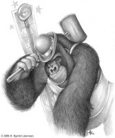 Gorilla High Striker by kyoht