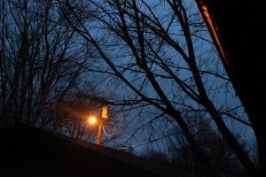 Stormy Streetlight Shining by Toderico