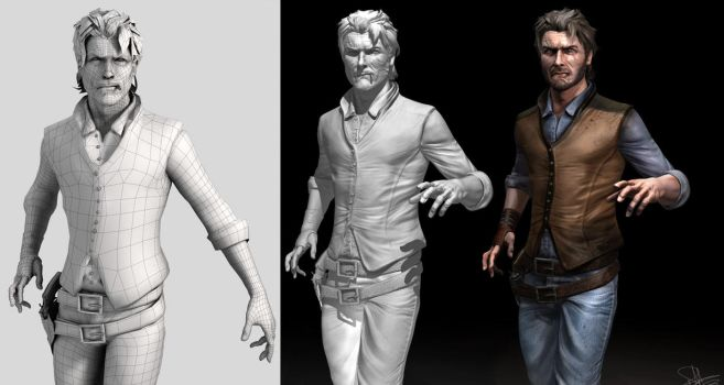 The Gunslinger/Roland Deschain - 3D Model Breakdow by FoxHound1984