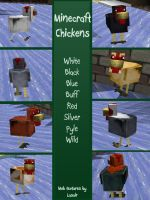 Minecraft- Chickens by KalinaPeregryph