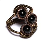 Steampunk Ring 3 onyx by CatherinetteRings