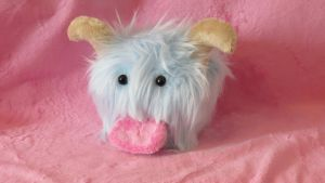 Light Blue Poro Plushie by WhimzicalWhizkerz