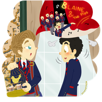 Klaine Moments S2 We're Just Blaine and The Pips by HOSHIDESS