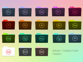 Adobe Creative Suite Folders by TinyLab