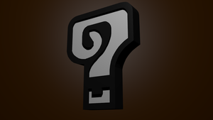 3D Question-Mark Icon from Monster Hunter by Trodag