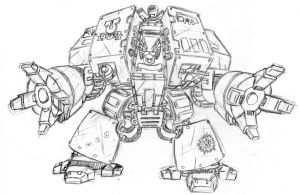 Space Marine Dreadnought WIP by Sheason