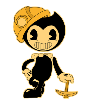 Miner Bendy Stamp (Contest Entry) by MichPajamaArtist