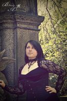 at the cemetary by BloodyKissAtNight