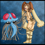 [Commission*] Tentacruel and Lopunny by izka197