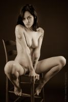 Chair Nude No 2 - Sepia by BrianMPhotography