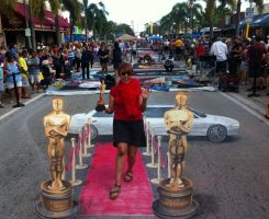 Walking the Red Carpet in Lake Worth, Florida by AmazingStreetPaint