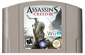 Assassin's Creed III N64 Cartridge by scrabzord