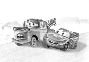 Mater and McQueen by FlashofWildfire