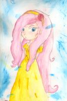 Fluttershy Painting by Lolly-pop-girl732