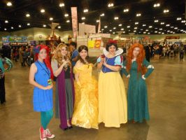 Disney Princesses- Comikaze Expo 2013 by MidnightLiger0