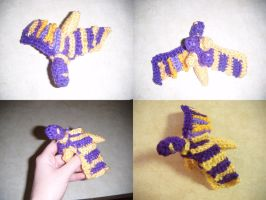 Purple and Gold Dragon- Christmas Gift by Ambrosial-Wolf